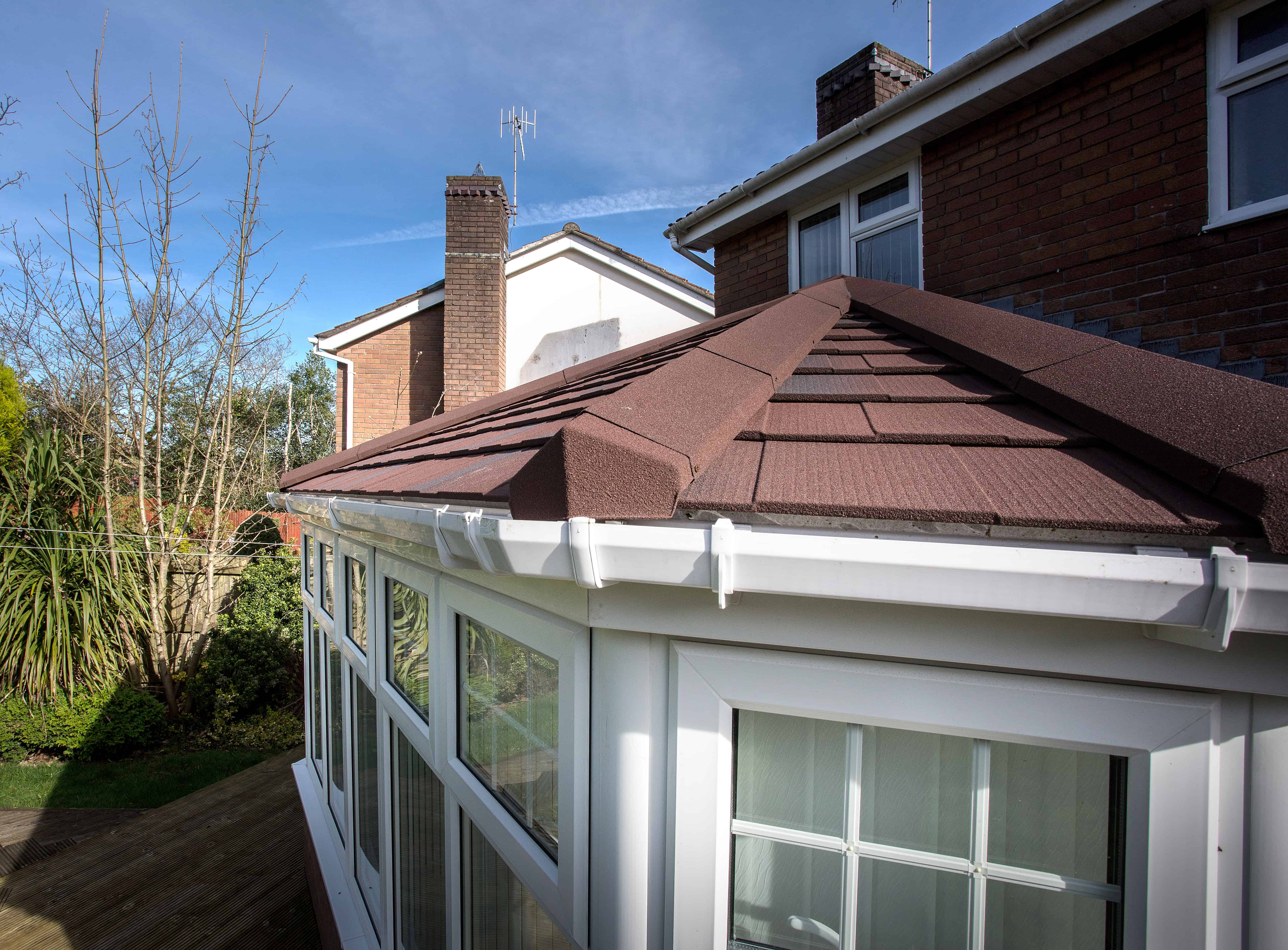 Conservatory solid tiled roof replacement