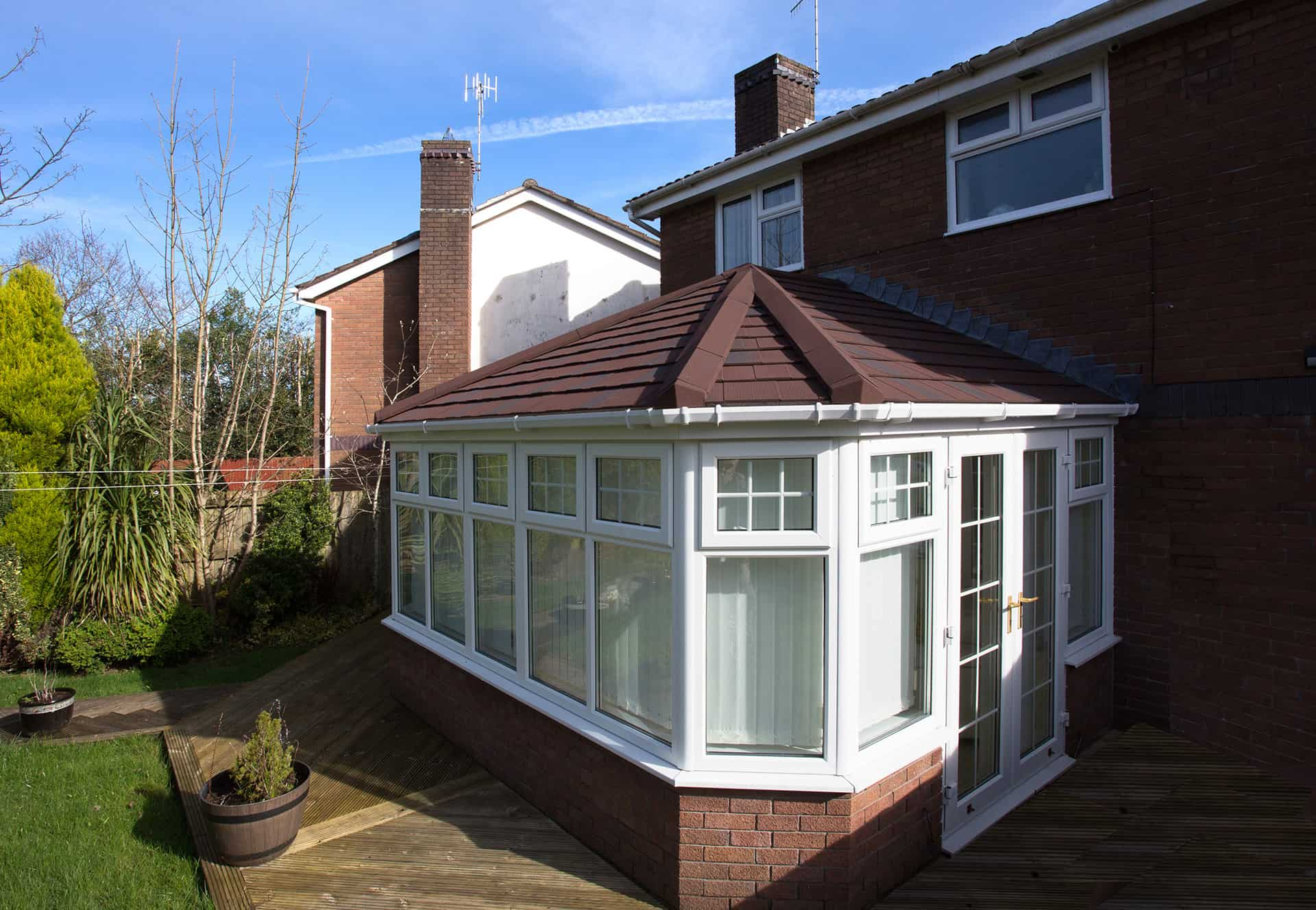 Conservatory tiled roof replacement